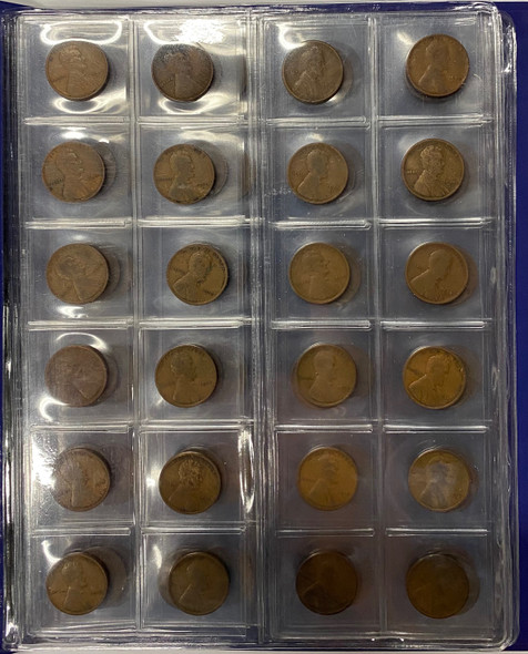 United States: 1909 VDB - 1948 Lincoln Head Cent Collection Most Dates Have Multiple Mint Marks(96 Coins)
