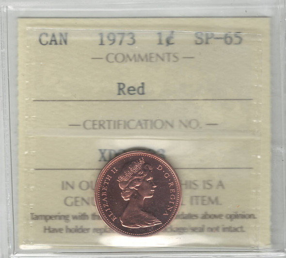 Canada: 1973 1 Cent ICCS SP65 Red