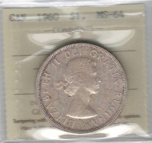 Canada: 1960 $1 ICCS MS64 Lot#2