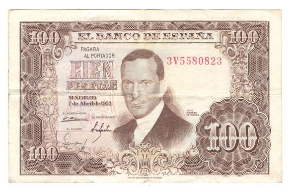 Spain: 1953 100 Pesetas Banknote