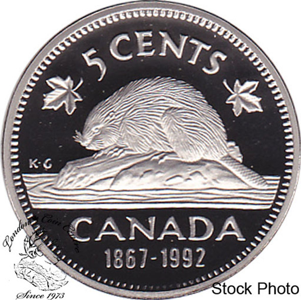 Canada: 1992 5 Cent Proof