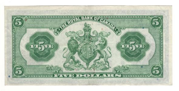 Canada: 1935 $5 Banknote - The Royal Bank of Canada 1143188