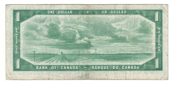 Canada: 1954 $1 Bank Of Canada Banknote Devil's Face M/A Lot#2