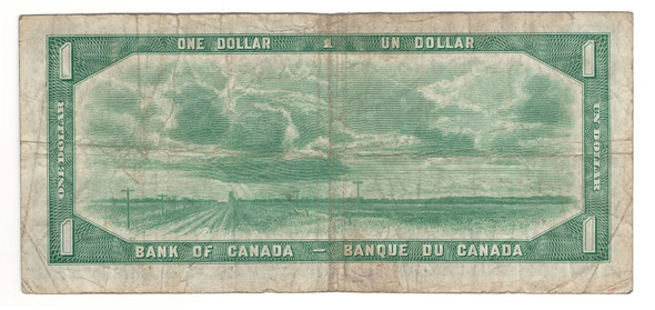 Canada: 1954 $1 Bank Of Canada Banknote Devil's Face L/A