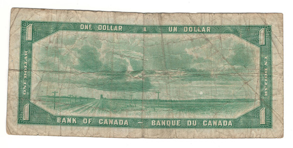 Canada: 1954 $1 Bank Of Canada Banknote Devil's Face L/A Lot#2