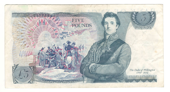 Great Britain: No Date 5 Pound Banknote