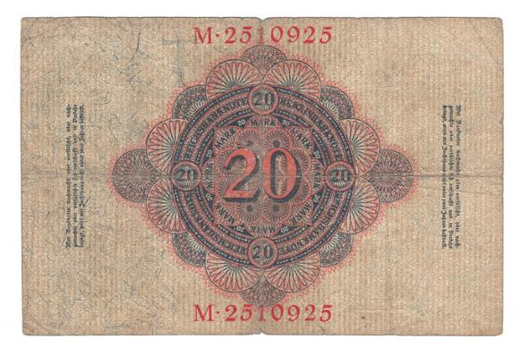 Germany: 1914 20 Mark Banknote