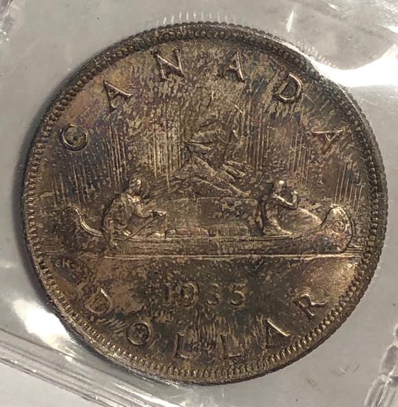 Canada: 1935 $1 ICCS MS65 Lot#7