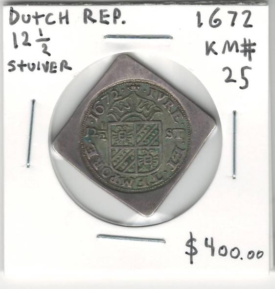 Netherlands: 1672 12 1/2 Stuiver