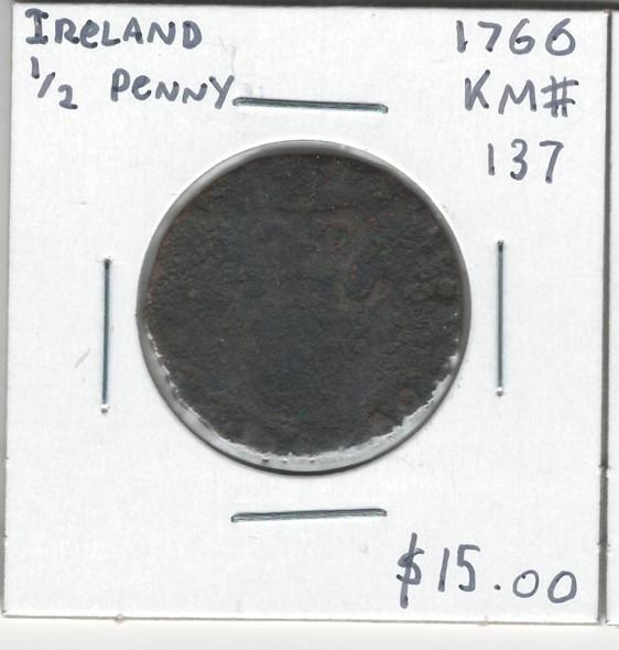 Ireland: 1766 1/2 Penny