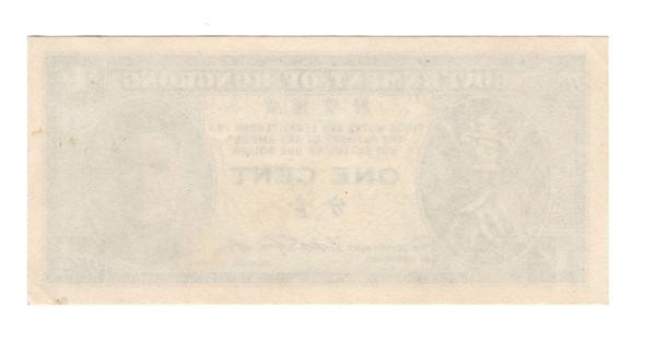 Hong Kong: No Date 1 Cent Banknote Lot#2