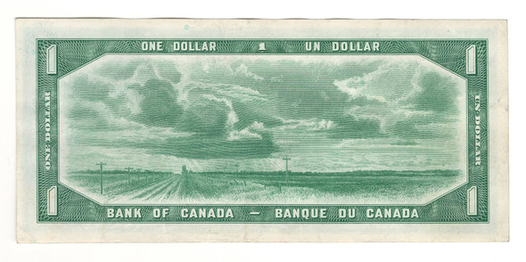 Canada: 1954 $1 Bank Of Canada Banknote Devil's Face B/A Lot#2