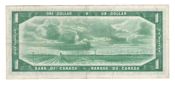 Canada: 1954 $1 Bank Of Canada Banknote Devil's Face D/A Lot#2