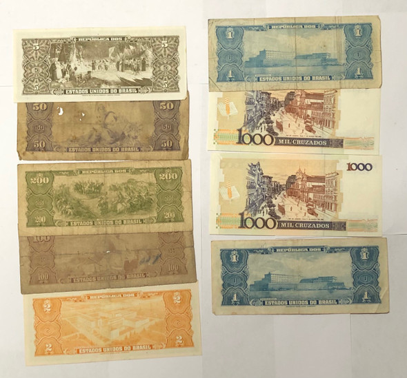 Brazil: Banknote Collection Lot (9 Pieces)