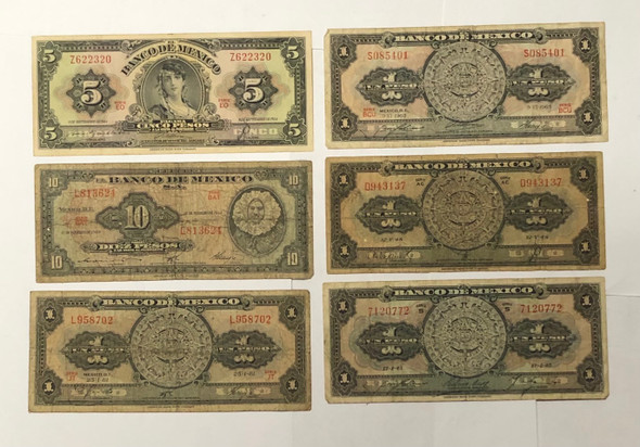 Mexico: Banknote Collection Lot (6 Pieces)