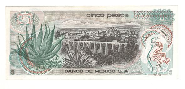 Mexico: 1972 5 Pesos Banknote