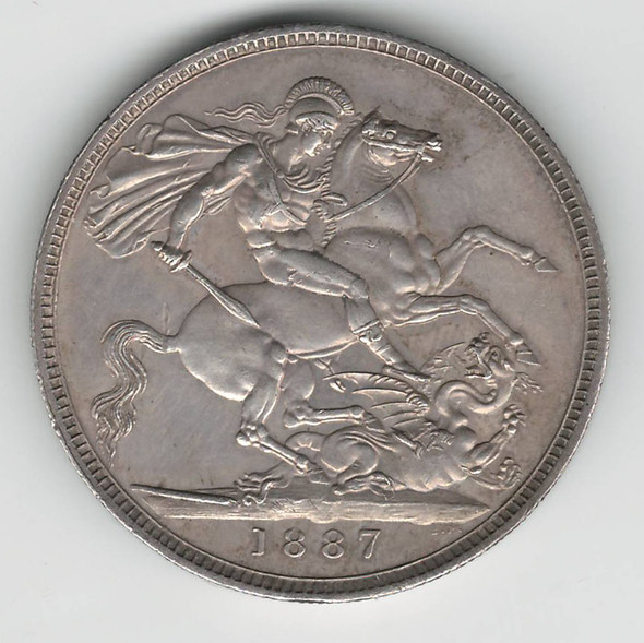 Great Britain: 1887 Silver Crown