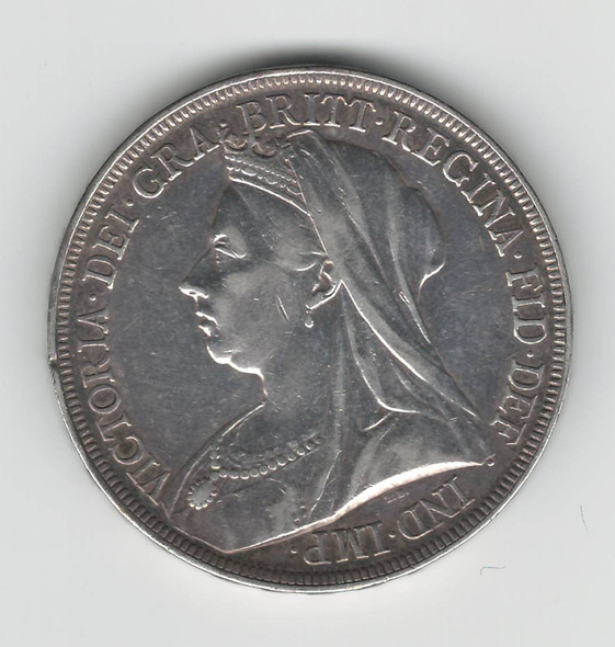 Great Britain: 1896 LIX Silver Crown