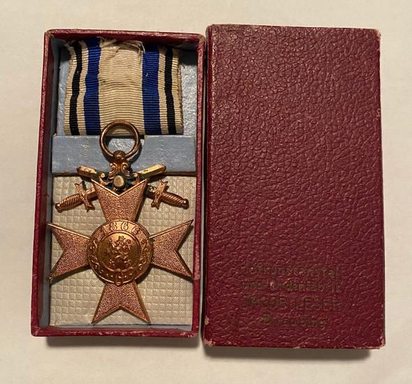 A Bavarian Military Merit Cross With Swords 3rd Class