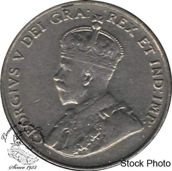 Canada: 1924 5 Cent VF30
