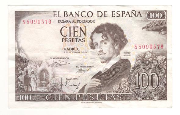 Spain: 1965 1000 Pesetas Banknote