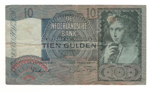 Netherlands: 1942 10 Gulden Banknote