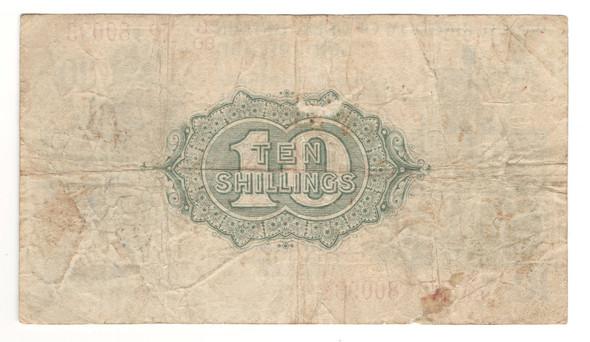 Great Britain: 1918 10 Shillings Banknote P.350