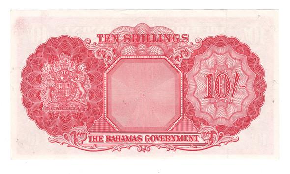Bahamas: 1953 10 Shillings Banknote P.14B