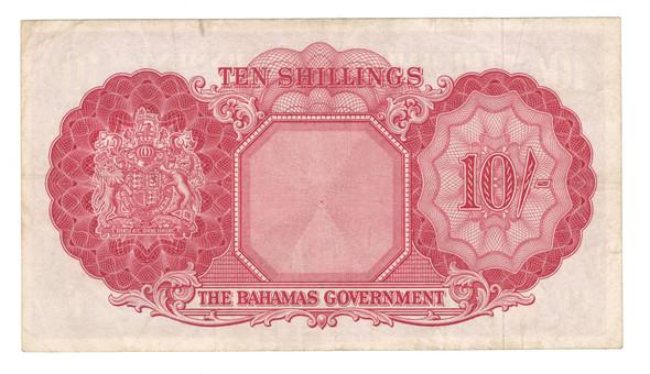 Bahamas: 1936 10 Shillings Banknote P.14D