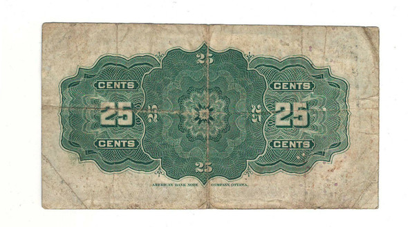 Canada: 1900 25 Cent Banknote Dominion of Canada DC-15a Lot#7