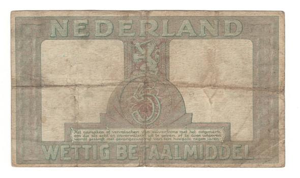 Netherlands: 1944 5 Gulden Banknote Lot#2