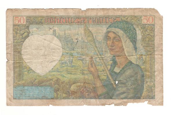 France: 1941 50 Francs Banknote
