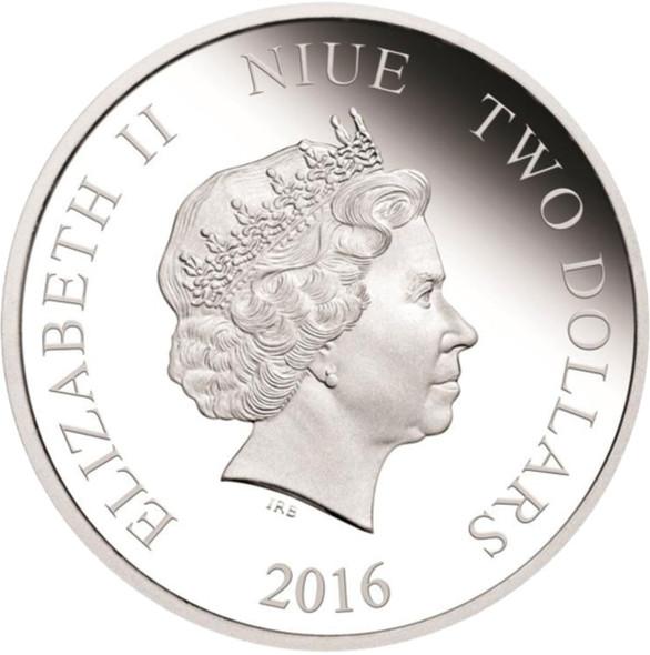 Niue: 2016 $2 Love is Precious: Hummingbirds 1 oz Pure Silver Coin