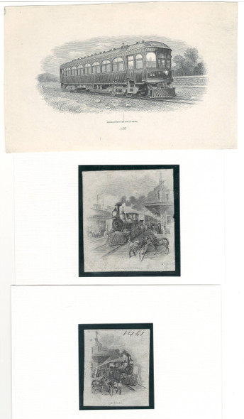 3 Train Related Die Proof Vignettes