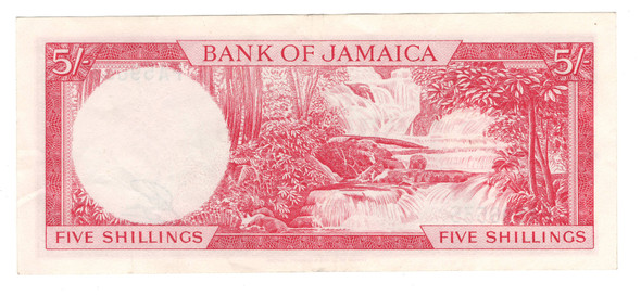 Jamaica: 1964 5 Shillings Banknote