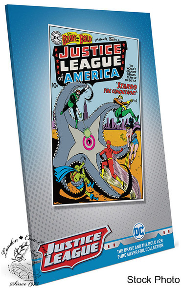 New Zealand Mint: 2020 Justice League The Brave and the Bold #28 35 Gram Pure Silver Foil