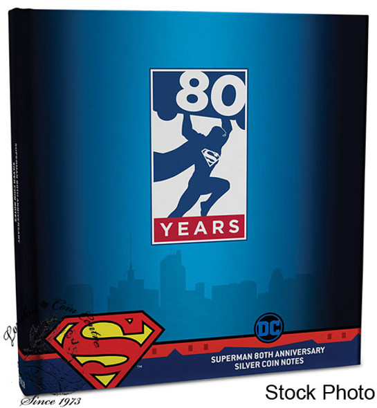 New Zealand Mint: 2018 Superman 80th Anniversary 5 Gram 6 Piece Pure Silver Coin Notes Set