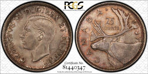 Canada: 1937 25 Cent PCGS MS64