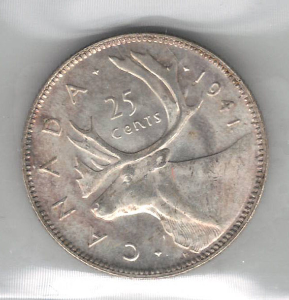 Canada: 1941 25 Cent ICCS MS64