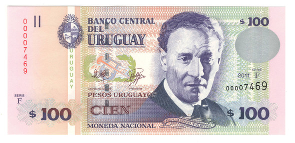 Uruguay: 2011 100 Pesos Banknote P.88b