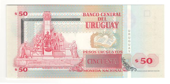Uruguay: 2008 50 Pesos Banknote P.87