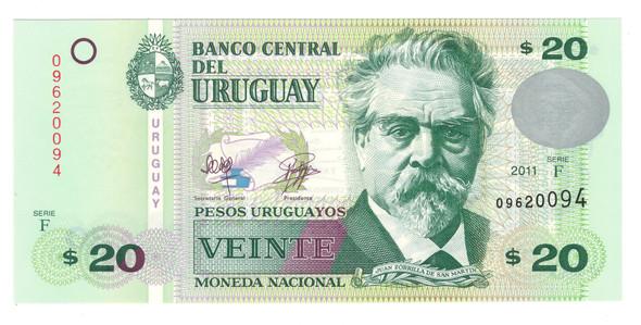Uruguay: 2011 50 Pesos Banknote P.86