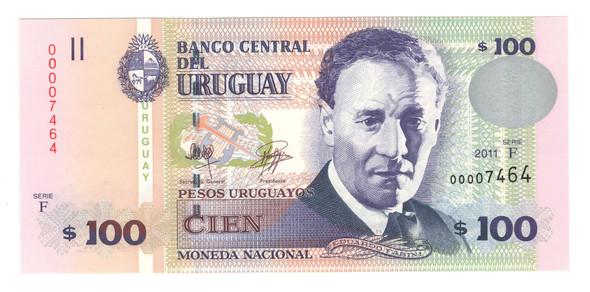 Uruguay: 2011 100 Pesos Banknote P.88b Lot#2