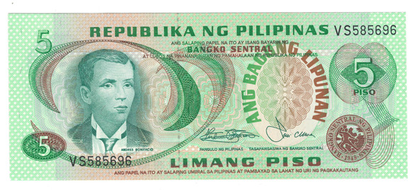 Philippines: 5 Pesos Banknote P.160B
