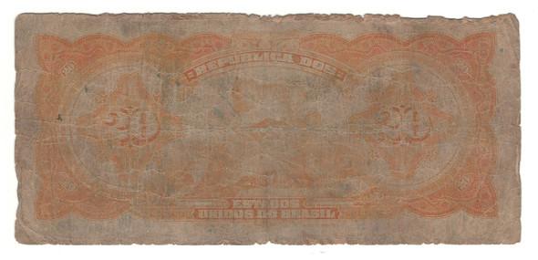 Brazil: No Date 20 Mil Reis Banknote