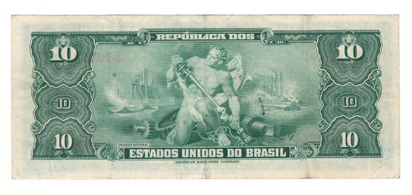 Brazil: 1943 10 Cruzeiros Banknote