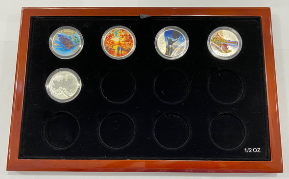 Masters Club Beautiful Wooden Box With 16 RCM Silver Coins