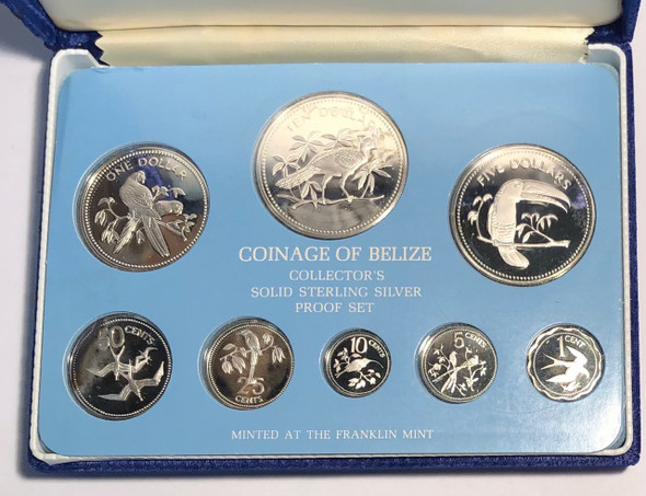 Belize: 1977 Proof Coin Set
