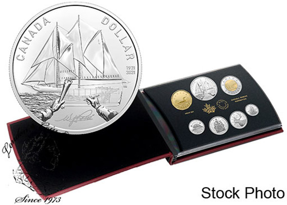 Canada: 2021 100th Anniversary of The Bluenose Special Edition Silver Dollar Proof Set