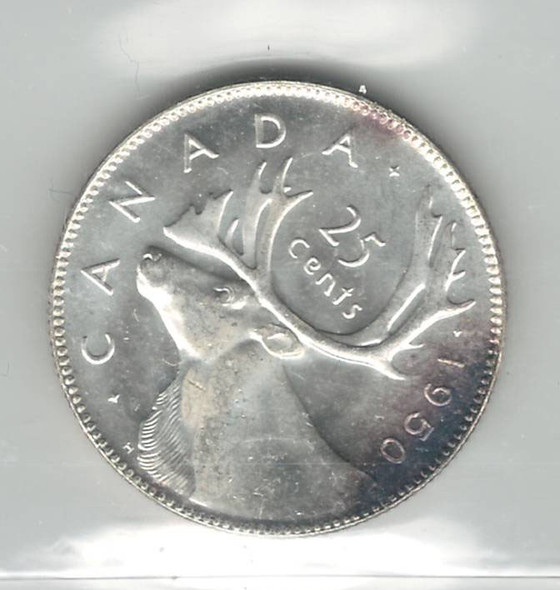 Canada: 1950 25 Cent ICCS MS65 Lot#3